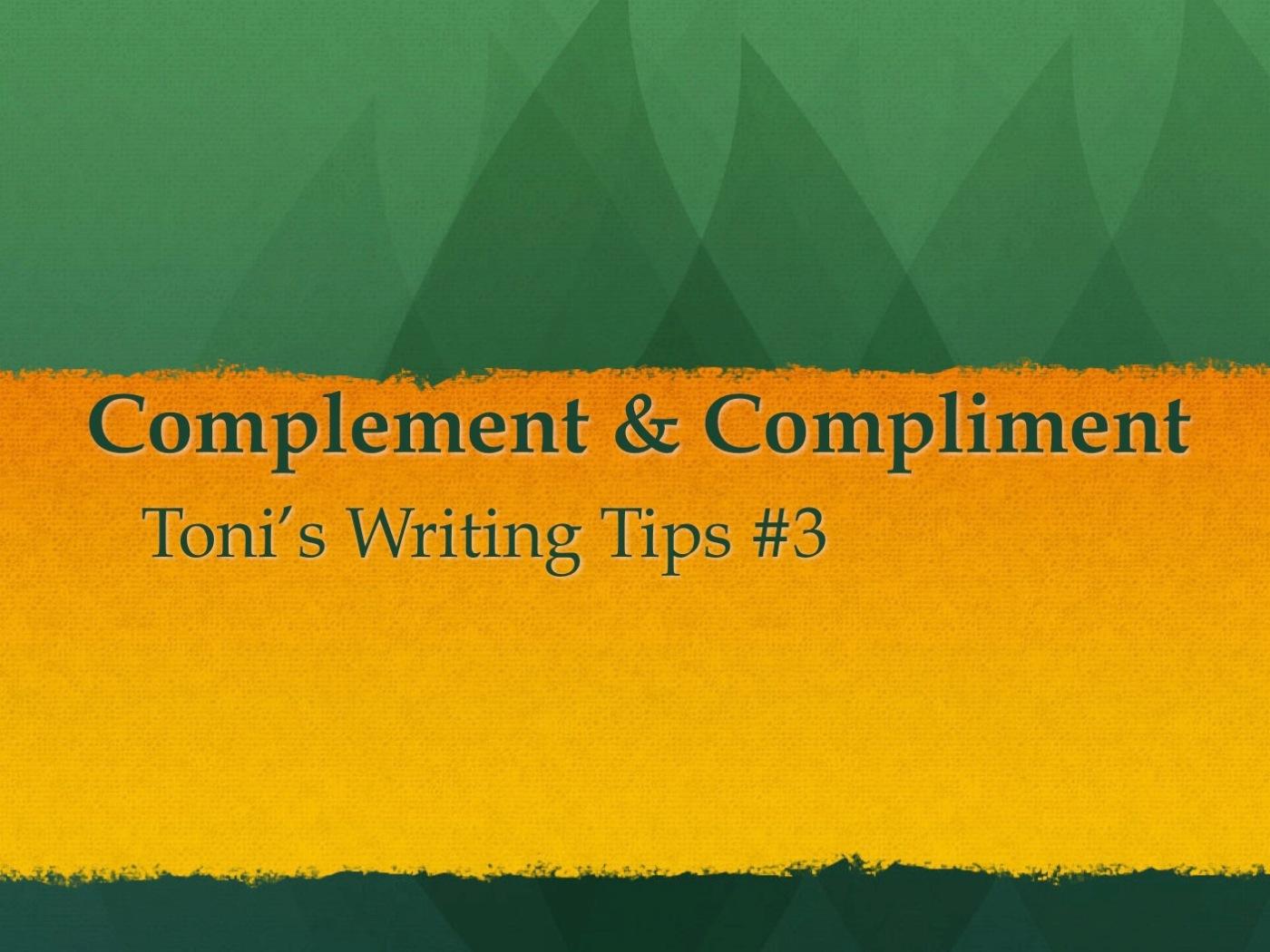 3 Compliment Photo